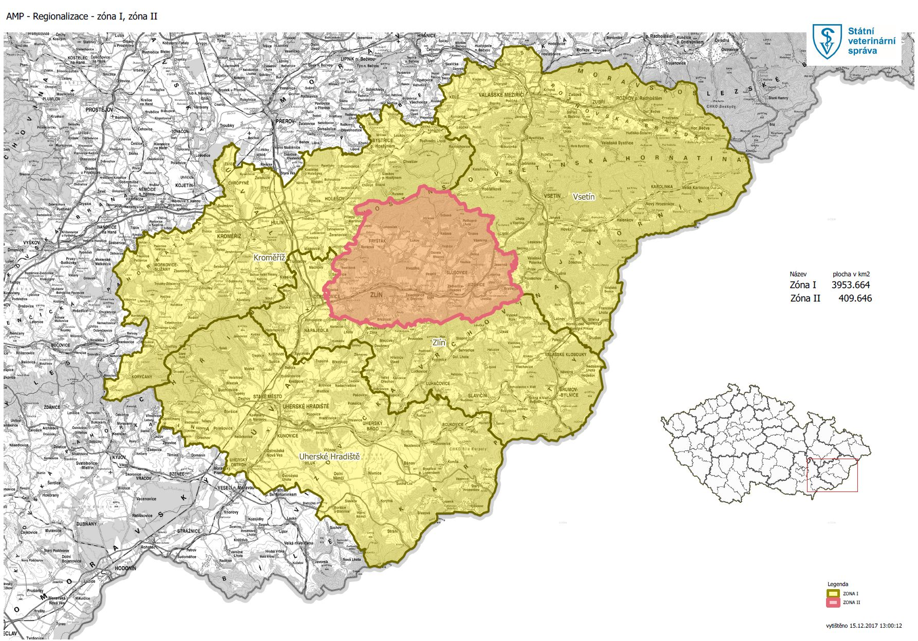 Mapa  AMP – Regionalizace – zóna I 53f9149e81