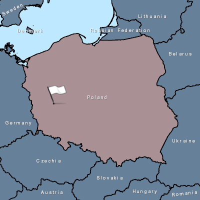 Mapa ptačí chřipka Polsko